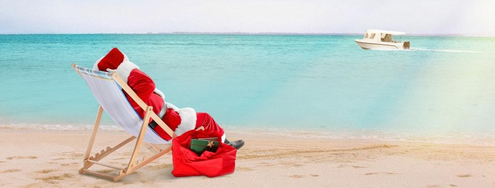 christmas 2018 santa beach
